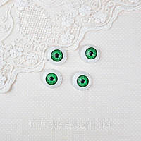 Глазки для Кукол Пластиковые КРУГЛЫЕ 20 мм ЗЕЛЕНЫЕ