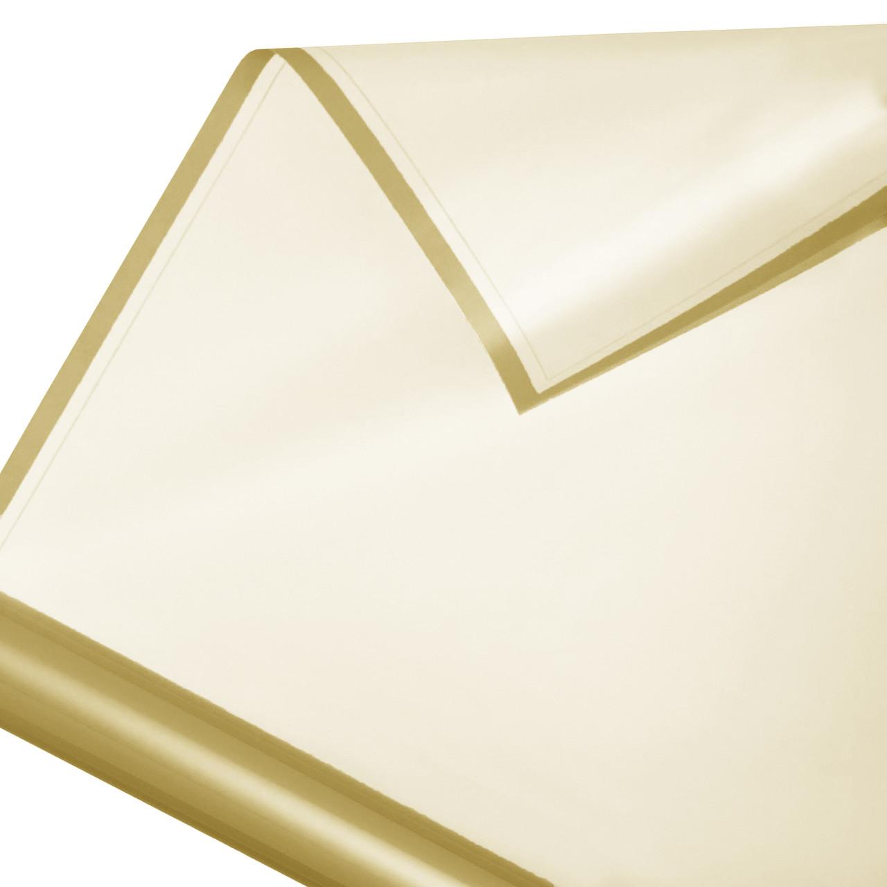 Калька в рулоні матовий кант 17 золото 60*60 см