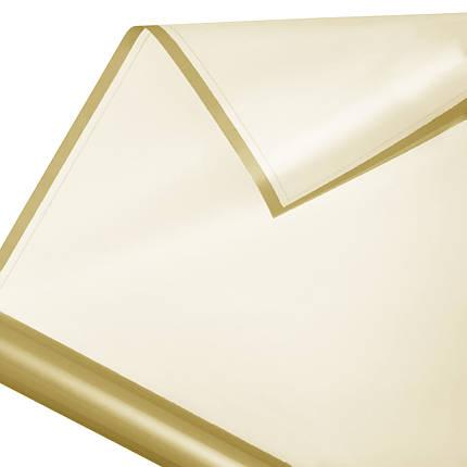 Калька в рулоні матовий кант 17 золото 60*60 см, фото 2