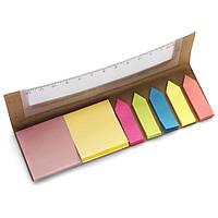 Стикеры разноцветные набор, линейка, клеящая бумага стикеры для записей