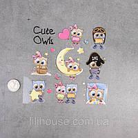 Термотрансферные Наклейки для Ткани CUTE OWL
