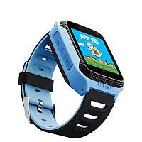 Детские смарт часы Q528 с сим картой и gps Smart baby с камерой , прослушкой, синие