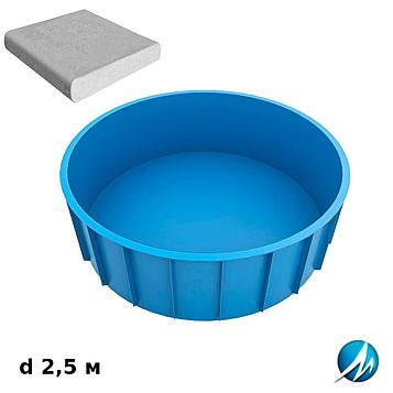 Комплект для отделки борта полипропиленового бассейна d 2,5 м копинговым камнем