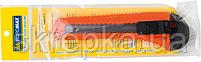 Ніж канцелярський JOBMAX 18 мм пластиковий корпус, фото 3