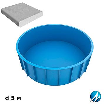 Комплект для отделки борта полипропиленового бассейна d 5 м копинговым камнем