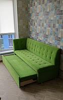 Кутова м'яка лавочка зі спальним місцем (Бузкова), фото 1