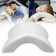 Ортопедическая подушка туннель с эффектом памяти Memory Pillow белая  (RZ668), фото 2