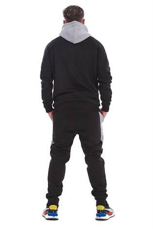 Спортивный костюм со вставками New Balance (Нью Беленс) черно-серый, фото 2