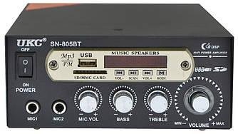 Підсилювач звуку UKC SN-805BT (MP3, FM, USB, SD, Bluetooth) + караоке (2644)