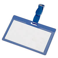 Бейдж 90 х 50 мм  пластиковый с прозрачным окном, многоразовый