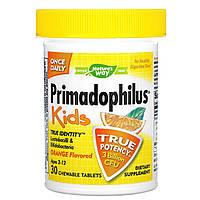 Примадофилус детский, пробиотик со вкусом апельсина, 2-12 лет, 30 жевательных таблеток, фото 1
