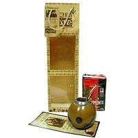 Комплект мате (калебаса, бомбилья, 250 г мате, буклет,пакет)