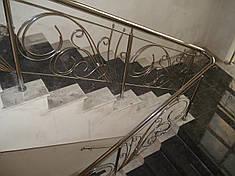 Перила нержавеющие кованые, фото 2