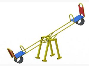 Дитяча гойдалка-балансир Dali 703/4-Р вулична зі спинкою і амортизаторами
