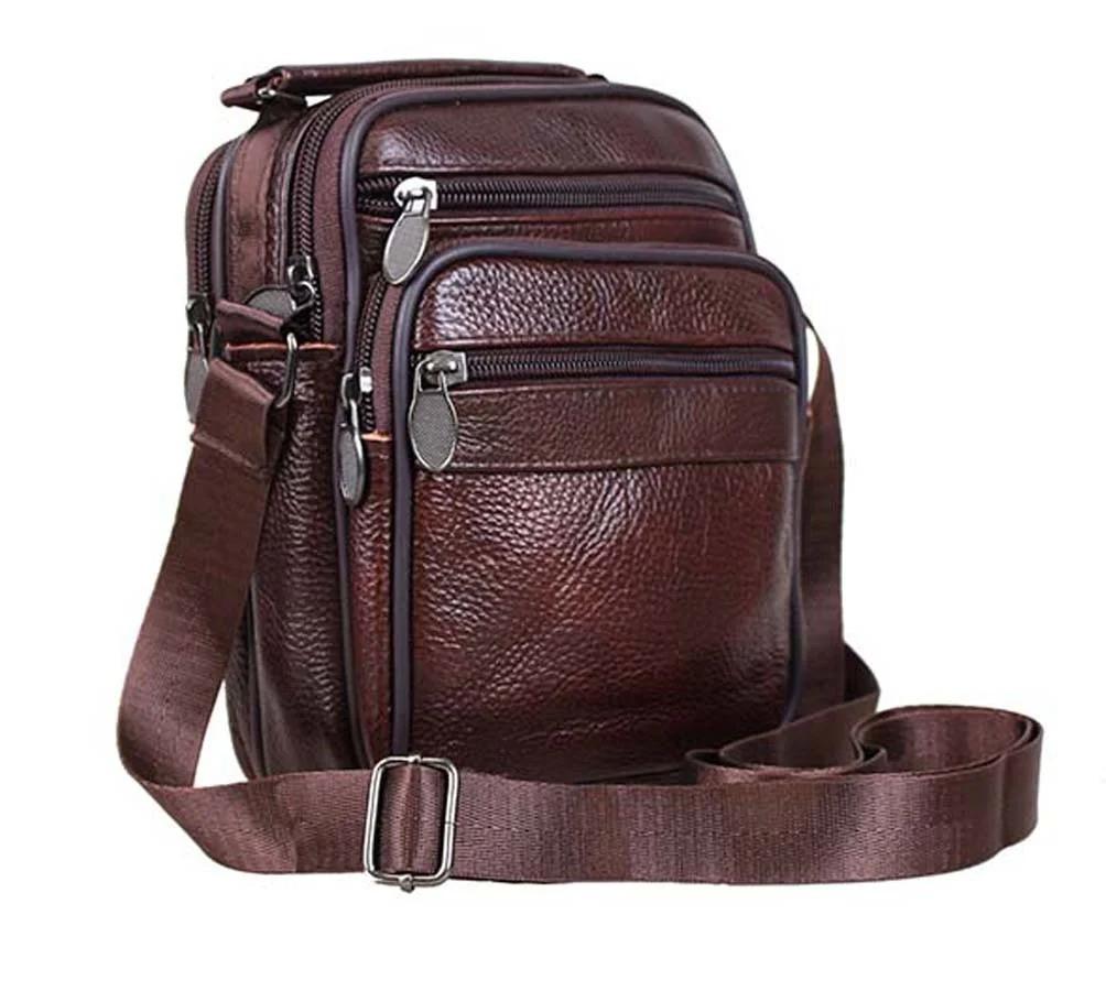 Чоловіча шкіряна сумка коричнева (152020к)