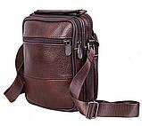 Чоловіча шкіряна сумка коричнева (152020к), фото 2