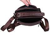 Чоловіча шкіряна сумка коричнева (152020к), фото 3