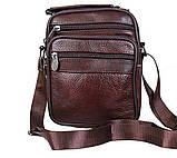 Чоловіча шкіряна сумка коричнева (152020к), фото 4