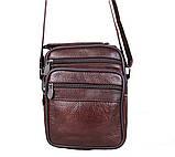 Чоловіча шкіряна сумка коричнева (152020к), фото 5