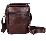 Чоловіча шкіряна сумка коричнева (152020к), фото 6
