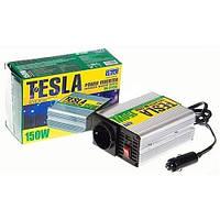Преобразователь напряжения 12V-220V/150W/USB-5VDC0.5A Tesla ПН-22150