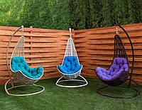 Подвесное кресло-кокон Леди со стойкой, до 120кг (170кг), 83*72*131 см, цвет на выбор + Гарантия