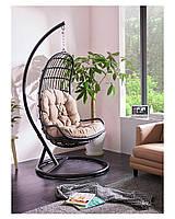 Подвесное кресло-кокон Легато со стойкой, до 120кг (170кг), 87*72*140 см, цвет на выбор + Гарантия