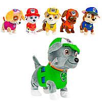 Мягкая игрушка собака Рокки Зеленый жилет на батарейках, электронная собака игрушка | собака іграшка (NV), фото 1