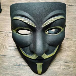 Маска Анонимуса - Маска Гая Фокса - Маска Вендета - Маска V - Чорна