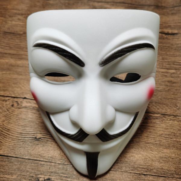 Маска Анонимуса - Маска Гая Фокса - Маска Вендетта - Маска V - Белая