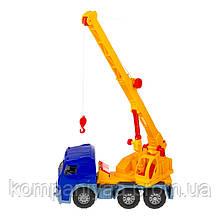 Игрушечная машинка Автокран с выдвижной стрелой 0572 (Синий)