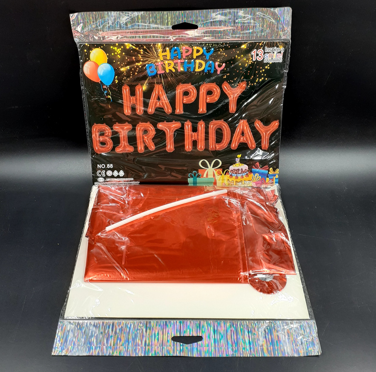 Гирлянда Happy Birthday в ассортименте, красный цвет