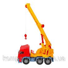 Игрушечная машинка Автокран с выдвижной стрелой 0572 (Красный)