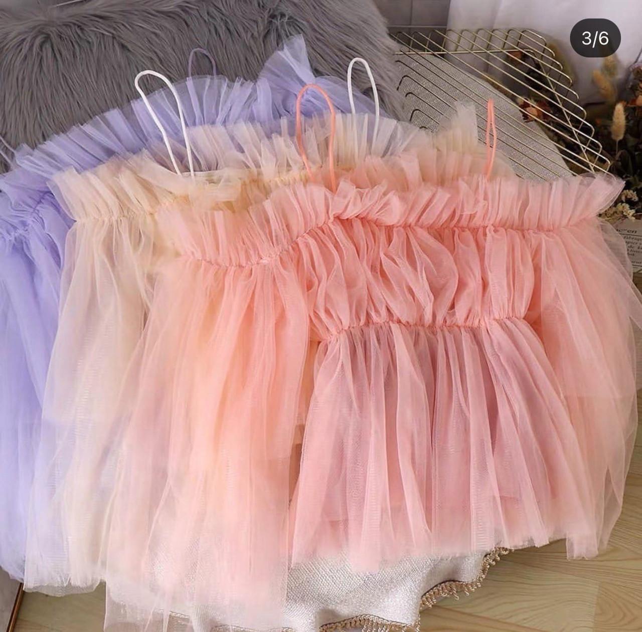 Женская воздушная фатиновая блузка