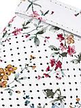 Кожаные сабо с цветочным принтом, фото 3