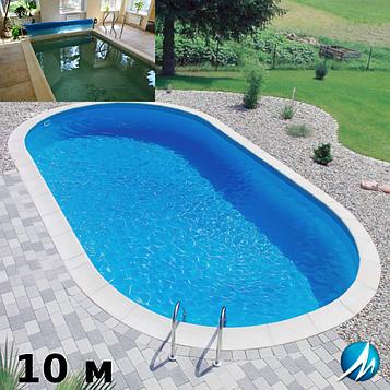 Копінговий камінь по периметру басейну з доріжкою шириною 0,75 м - комплект для збірного басейну 10м