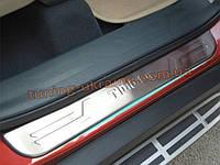 Внутренние накладки на пороги из нержавеющей стали для Chery Tiggo-5 2013+