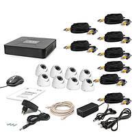 AHD Комплект видеонаблюдения для быстрой установки Tecsar 8OUT-DOME