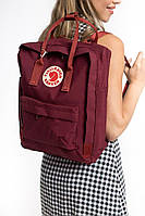 Портфель Fjallraven Kanken Classic 16l рюкзак канкен класик бордовый канкен класік бордовий, фото 1