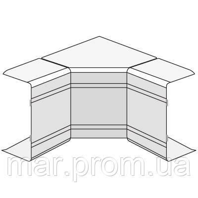 NIAV 25x30 угол внутренний изменяемый (70-120 °), белый RAL9001