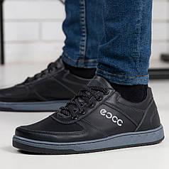 Кросівки чоловічі чорні з прошитою підошвою