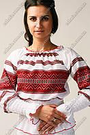 Женская вышиванка Регина с украинским орнаментом  128, Собственное производство, батист, Украина, Хлопок
