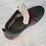Яскраві чоловічі черевики зимові низькі (Клз-4чр), фото 5