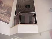 Перила нержавеющие со  стеклом, фото 3
