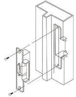 Схема установки электрозащелки YS-136NO-S