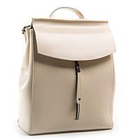 Бежевый женский рюкзак кожаный А. Rai городской рюкзак для учебы, работы из натуральной кожи
