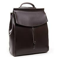 Женский рюкзак кожаный коричневого цвета А. Rai городской рюкзак для учебы, работы из натуральной кожи