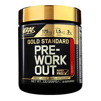 Предтренировочник Optimum Nutrition Pre-Workout gold standard (330 g)