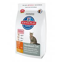 Корм для стерилизованных кошек и кастрированных котов с курицей 0,3 кг Hills SP Feline Young Adult Sterilised Cat With Chicken (Хиллс)