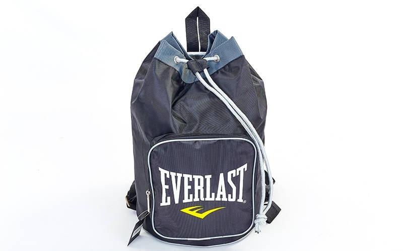 Рюкзак-баул спортивный из водонепроницаемой ткани Everlast GA-0524 (45x35x20см, черный-серый)